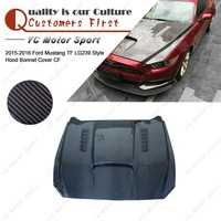 Car Accessories Carbon Fiber Trufiber LG239 Style Hoods Cover Fit For 2015 2016 Mustang Front Hood Bonnet