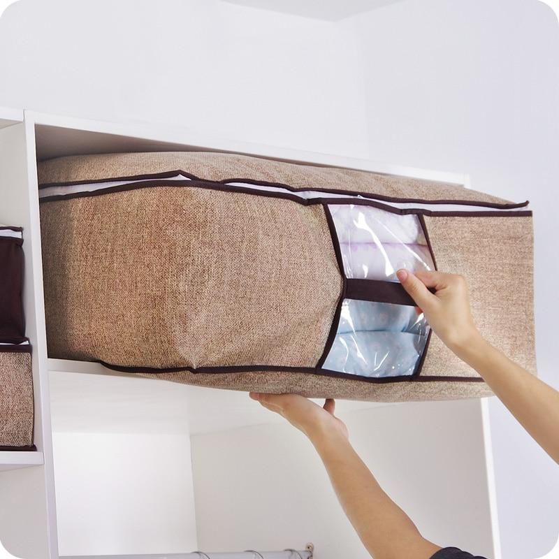 Non-tissé famille sauver espace Organizador lit sous placard boîte - Organisation et stockage dans la maison - Photo 3