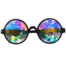 Kaléidoscope Femmes lunettes de Soleil Modèle Défilé Lunettes Hommes Dazzle  Artificielle Diamant Lentille Vapeur Punk Date a5e47dcf79d7