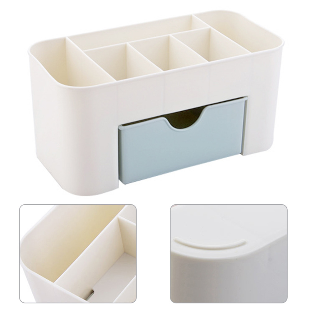 2 Colors Mini Makeup Storage Box Cosmetic Case Lipstick Sundries Cases Small Objects Box Desktop Organizer 220*110*105mm