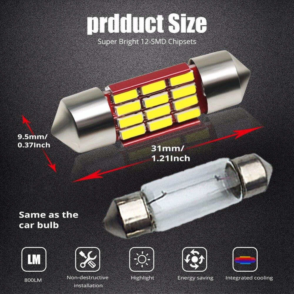 HONDA 39mm 4 SMD LED 239 272 C5W CANBUS NO ERROR INTERIOR LIGHT FESTOON BULB