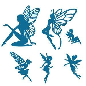 Grite Butterfly Wing Fairy Metal Cutting Dies Stencils DIY Scrapbook Photo Album Paper Card Decorative Craft Embossing Die Cuts