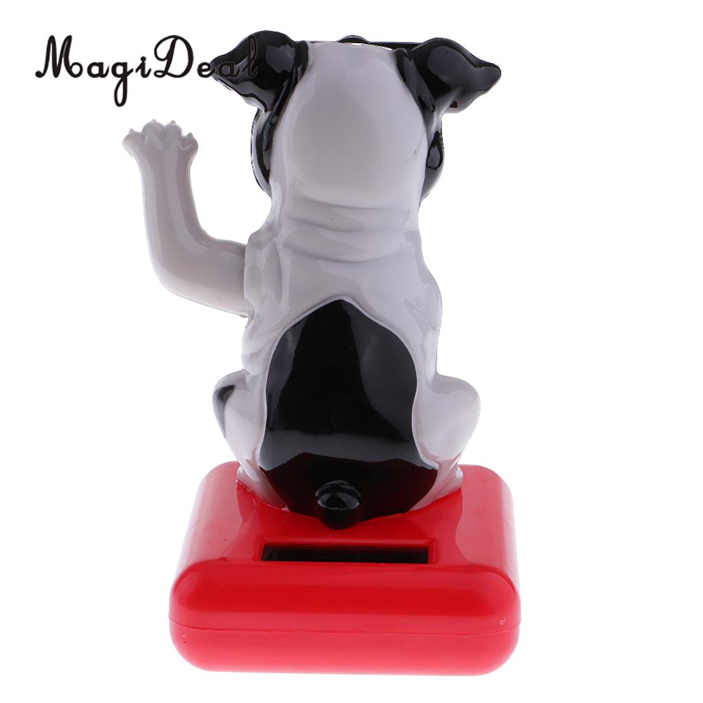 MagiDeal Solar Powered Dancing   Toy Car Ornament Bobble Head Dog Animal Toy for Home Office Desk Table Decor 10Kinds