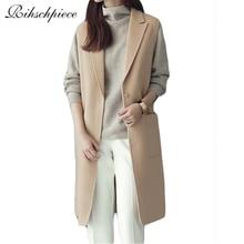 Rihschpiece Winter Vest Women Plus Size Long  Waistcoat Basic Womens Suits Jackets Coats Sleeveless Blazers Vests RZF239