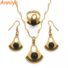 Anniyo Black/Red/Blue/White/Gray Papua New Guinea Bilum Pearl Necklace Earrings Ring Women Girl PNG Ethnic Jewelry set #213506(China)