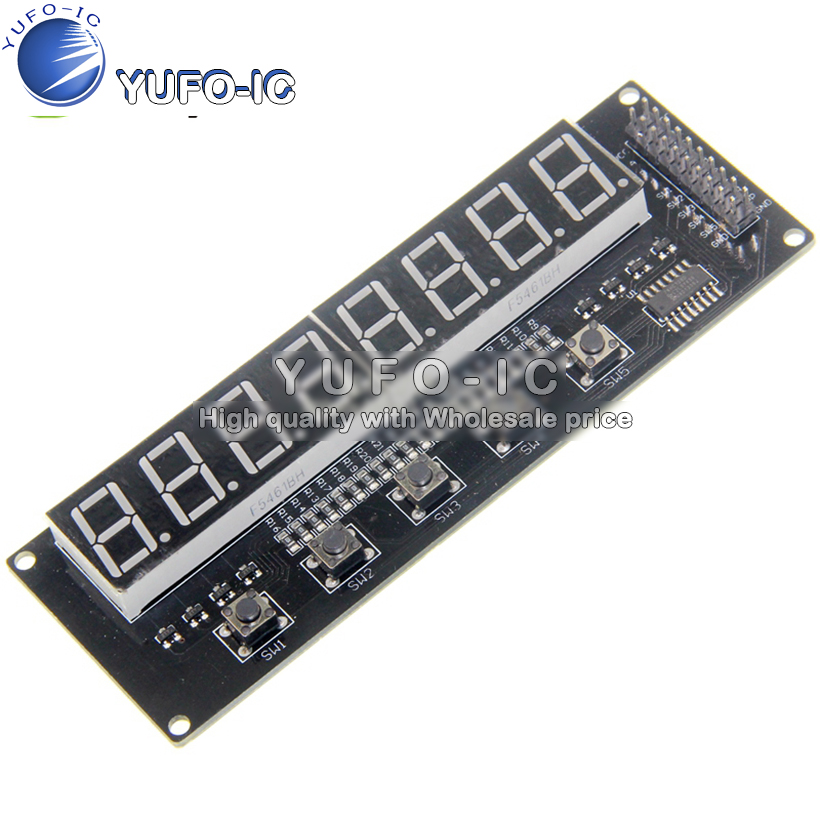 1 Chip microcomputer Development Board 8-bit digital Tube expansion board support AVR/51/PIC Digital tube