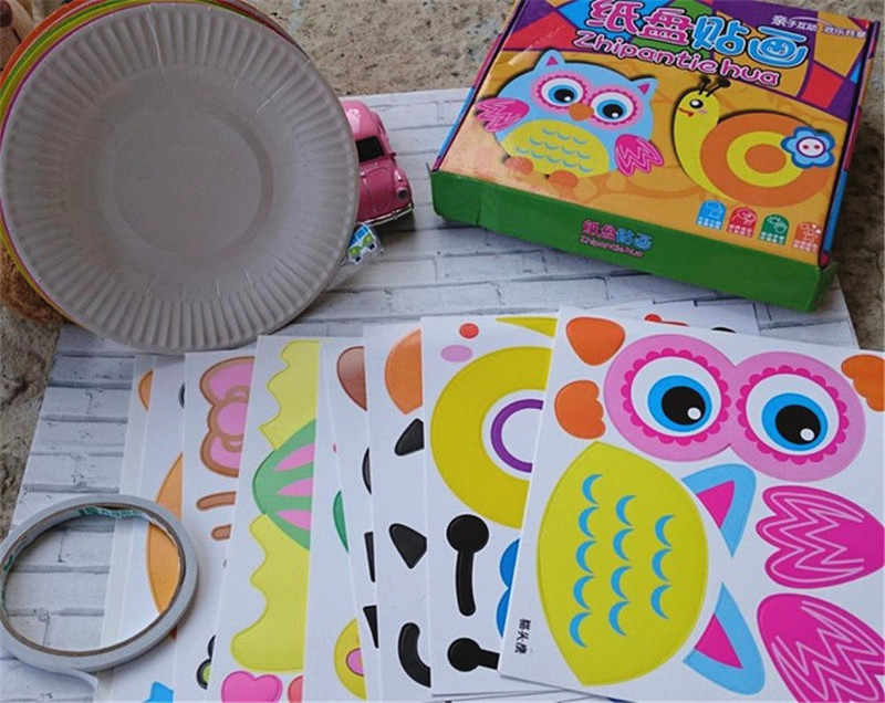 Detail Feedback Questions About 10pcs Set Diy Paper Plate Art Craft