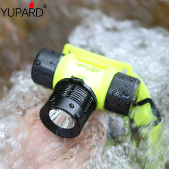 YUPARD 500Lm 20m Diver Diving 18650 batería o 3x AAA Q5 LED linterna antorcha impermeable luz lámpara de cabeza envío gratis