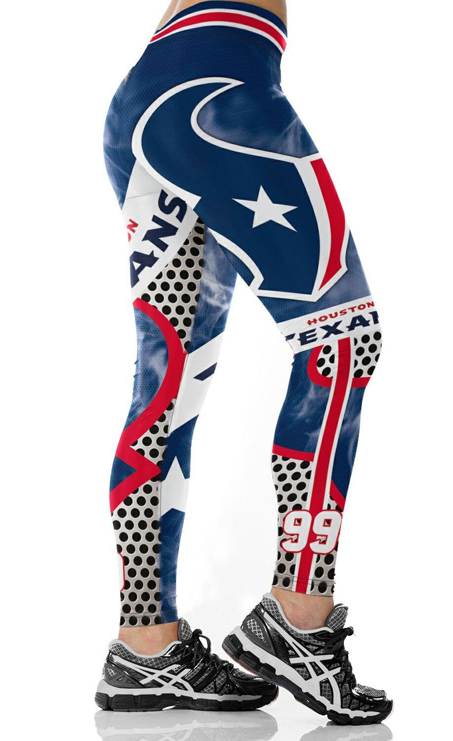Houston T-Team Fitness Leggings Fiber Elastic Hiphop Party Cheerleader Rooter Workout Pants Logo Trousers Dropshipping