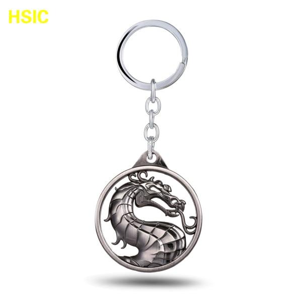 HSIC, 3 цвета, грагон, горячая игра, Mortal Kombat, брелок, металлический брелок для ключей в подарок, chaviro, брелок, ювелирное изделие для автомобилей - Цвет: silver plated yin