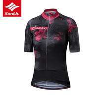 Santic Cycling Jersey Women Jersey Summer Breathable Motocross Jersey Cycling Clothing Downhill Jersey Tops Maillot Ciclismo