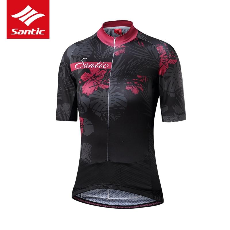 Santic Maillot de cyclisme femmes Maillot été respirant Motocross Maillot cyclisme vêtements descente Maillot hauts Maillot Ciclismo