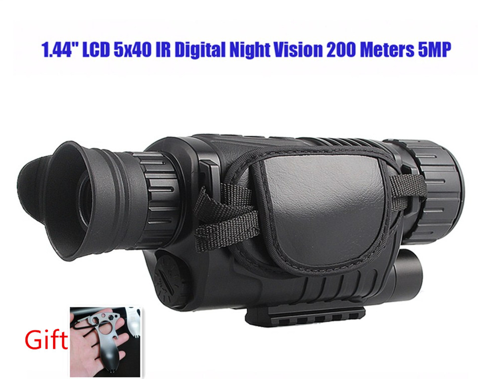 NV1000 5x40 Digital IR Night Vision Monocular Takes Photos Video DVR 200m RL29-0003 boblov 5x40 digital infrared night vision goggle monocular 200m range video dvr imagers for hunting camera device free 8gb card