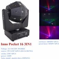 16pcs Laser strobe beam 3 in 1 LED Moving Head Beam Light Infinite Rotation Beam Wash Light