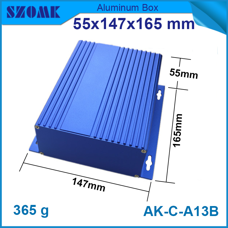 1 pcs/lot aluminum carrying case project which belongs to the enclosure aluminum box with 55(H)x147(W)x155(L)mm for electronics e cap aluminum 16v 22 2200uf electrolytic capacitors pack for diy project white 9 x 10 pcs