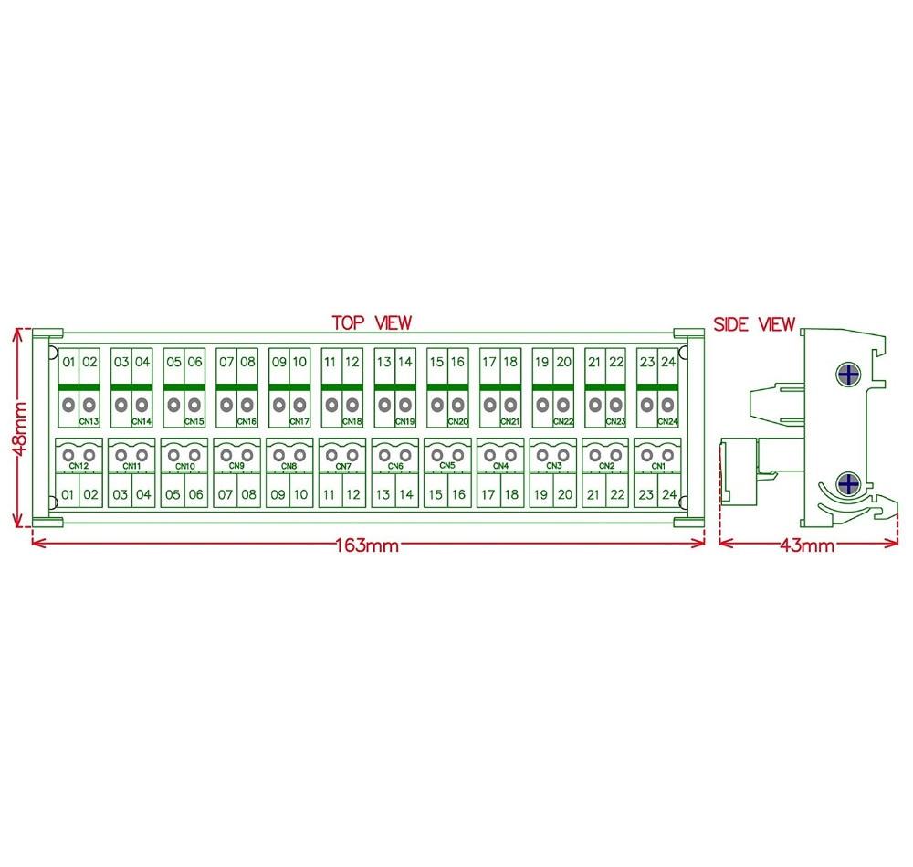 conector do fio do terminal terminal x3 12 bit power de 05