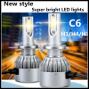 Car LED Headlight Fog Lamp H1 H3 H4 H7 H11 9005 9006 6500LM 72W High Power
