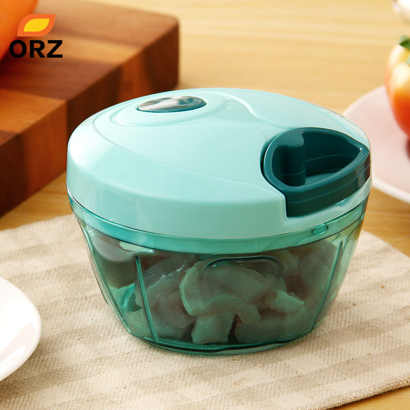 ORZ <font><b>Multifunctional</b></font> Hand <font><b>Food</b></font> Processor Fruit Vegetable Meat <font><b>Chopper</b></font> Mincer Crusher Salad <font><b>Tools</b></font> <font><b>Kitchen</b></font> <font><b>Food</b></font> <font><b>Chopper</b></font> Mixer Bowl image