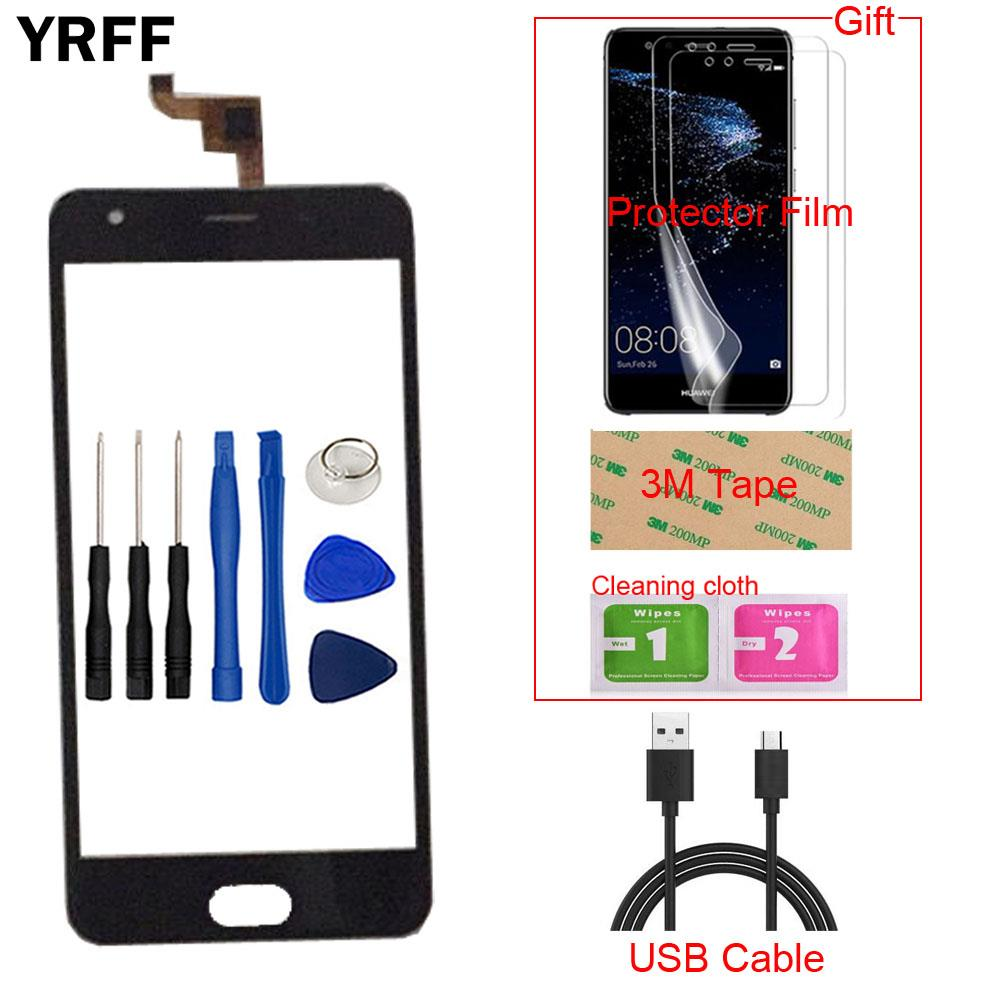 5.0 ''Mobile Écran Tactile Écran Tactile Capteur Avant En Verre Pour Oukitel K4000 Plus Écran Tactile Digitizer Remplacement Tactile Panneau