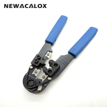 NEWACALOX Multifunction Modular Connector 8pin Stripper Stripping Wire Cutter Plug Tools Crimping Repair Adjustable Netwotk DIY