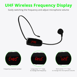 UHF Wireless Microphones Stage Wireless Headset Microphone System Mic For Loudspeaker Teaching Meeting Tour Guide Speech
