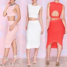 womens clothing crop top y falda conjunto two pieces set for women skirt crop tops long