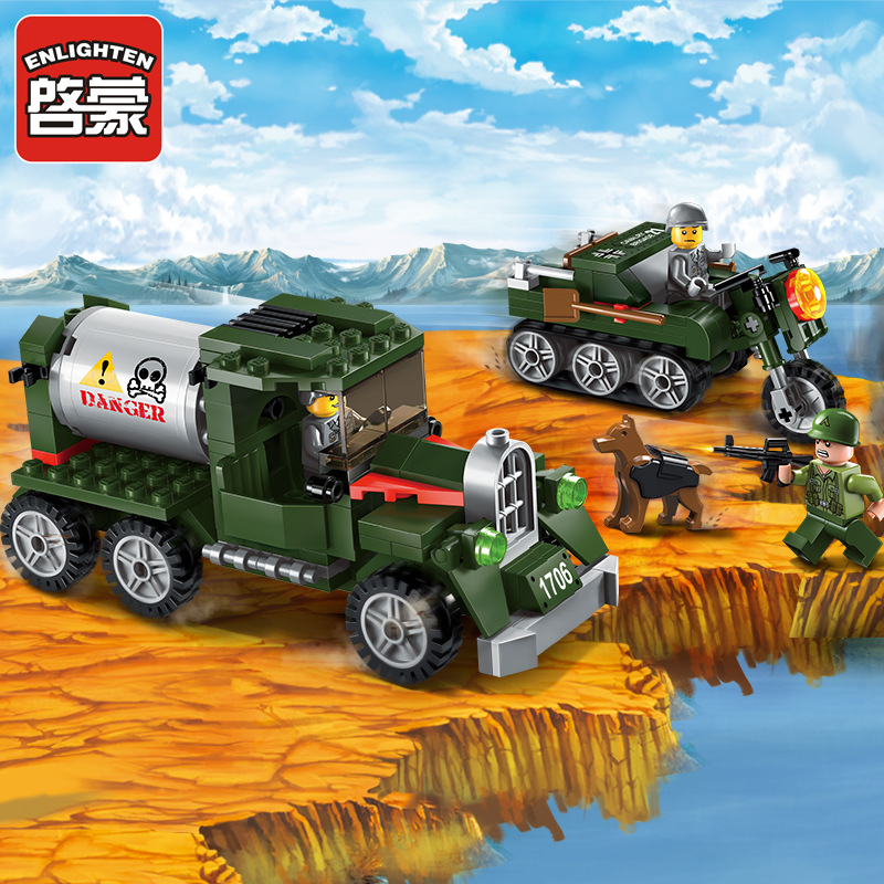 Enlighten City SWAT Series Military Intercept Transport Team Mini Figures Building Blocks Compatible With Lepin Bricks Kids Toys