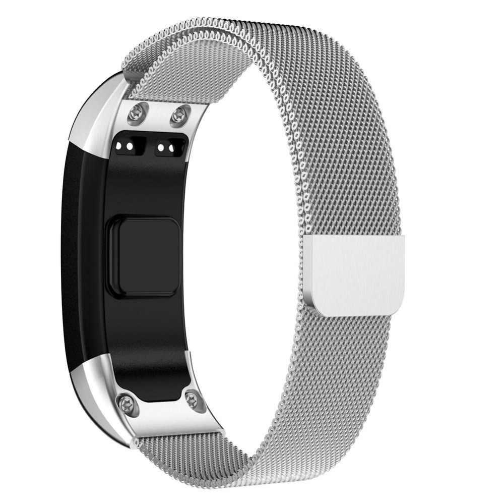 ממילאנו נירוסטה רצועת השעון עבור Garmin Vivosmart HR מתכת החלפת כלי ערכת ספורט חכם צמיד Watchstrap צמיד