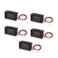 5PCS DC 5V 70V LED Digital Display Panel Voltmeter Electric Battery Voltage Meter Volt Tester for Auto Battery Car Motorcycle