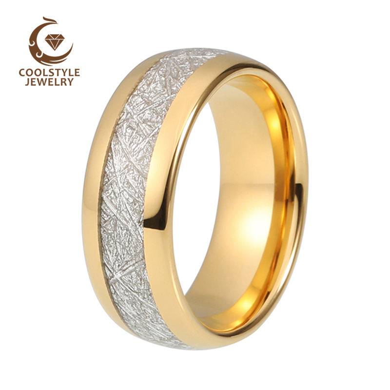 Titanium 10mm Pipe-cut Yellow Gold Plated Flat Square Comfort Fit Wedding Band