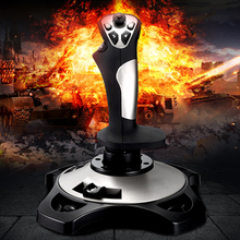 PXN PRO 2113 4-axis USB Cabled Flight Game Arcade Joystick Simulator Controller and Keyboard Mapping with Button Function pxn 2113 thunder pro wired gaming flight joystick simulation game rocker 4 axles vibration controller for windows 10 pc computer