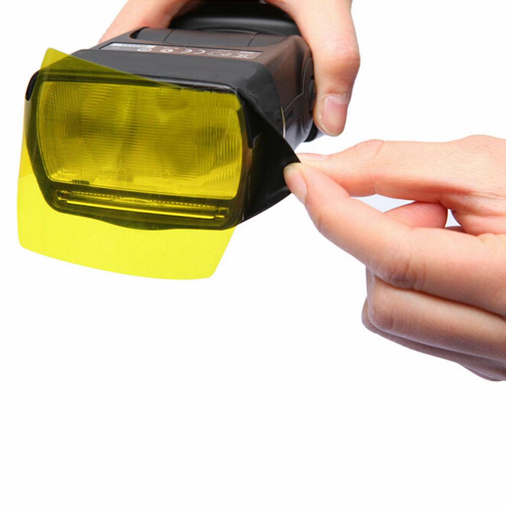 20 штук синхроконтакта разъем для внешней вспышки типа Цвет гелевые Фильтры объектива Цифрового Фотоаппарата Canon Камера фотографического гелевых фильтров Вспышка Speedlite Speedlight