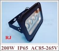LED flood light with lens 90 degree of emitting angle 200W (4 X 50W) floodlight tunnel light AC85 265V IP65 16000lm