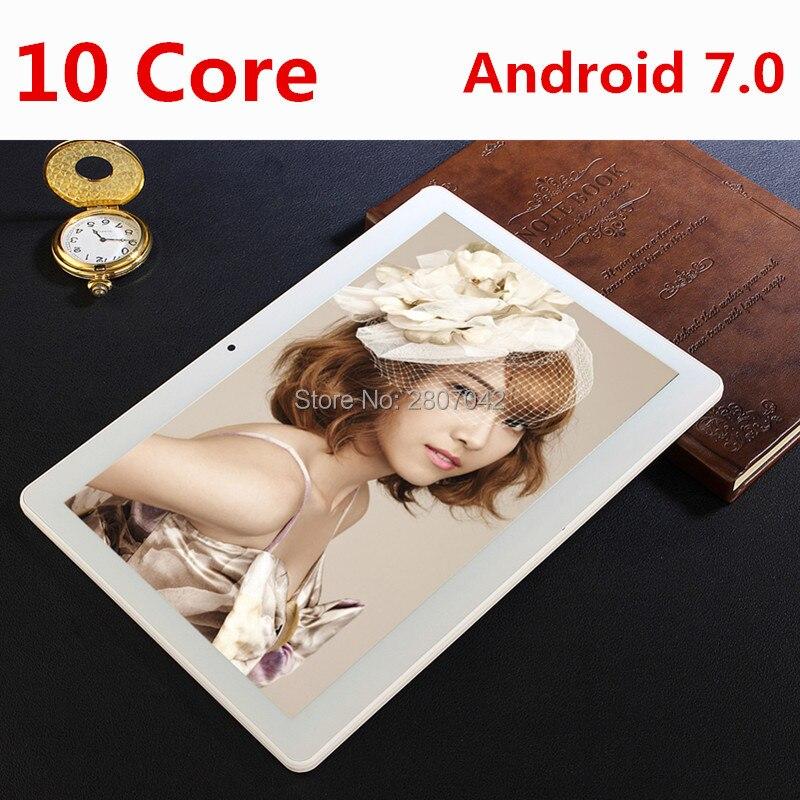 Новинка 2017 года 10 дюймов 4 г LTE Планшеты Дека core android 7.0 Оперативная память 4 ГБ Встроенная память 64 ГБ двойной Мобильные SIM-карты 1920*1200 IPS HD 10.1 дю…