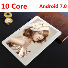 2017 New 10 inch 4G LTE Tablets Deca Core Android 7.0 RAM 4GB ROM 64GB Dual SIM Cards 1920*1200 IPS HD 10.1 inch Tablet PCs+Gifs