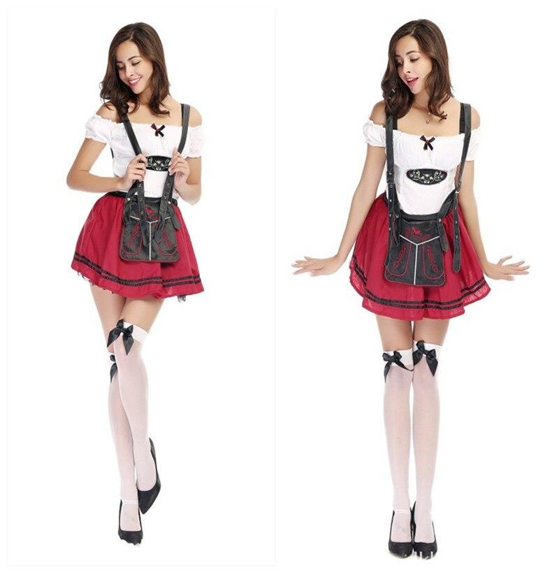 100% autentico vendita a buon mercato nel Regno Unito sempre popolare Oktoberfest Beer Domestica Contadino Vestito Halloween Costume ...