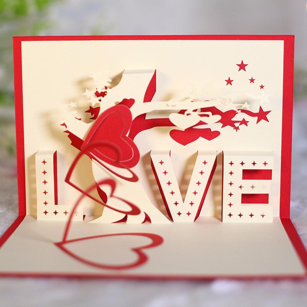 New 2018 Love Tree valentine\'s day wedding invitations Greeting Card ...