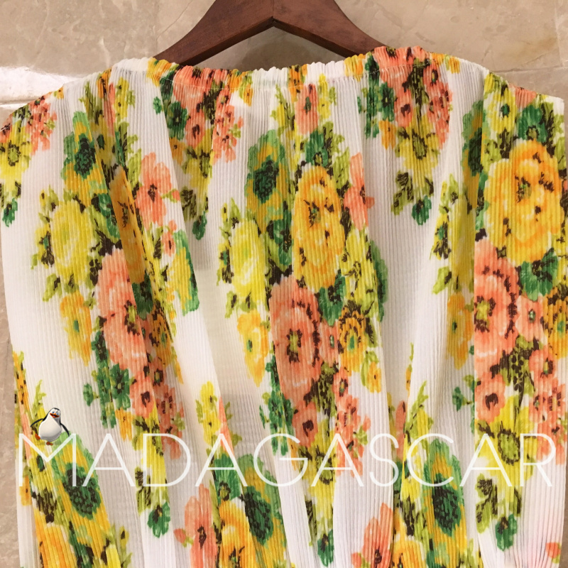 Gold CoastBohemia resort wind floral print sleeveless Straight Gold Coacut fold girdle pleated floral Accordion fold maxi dress in Dresses from Women 39 s Clothing