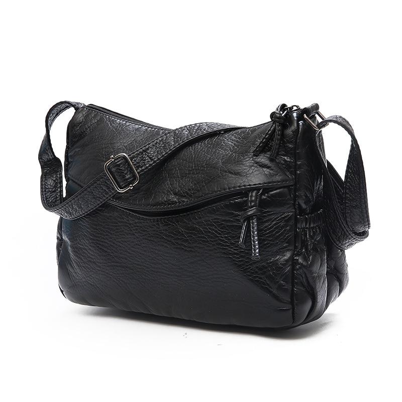 Vintage 2018 High Quality Leather Women Handbag Luxury Messenger Bag Soft pu Leather Fashion Ladies Crossbody Bags Female Bolsas
