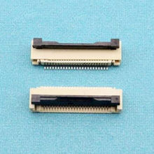 100 pçs/lote 1.0mm-24 P Para Baixo Conector Clamshell FFC FPC 1.0mm Pitch 24Pin/forma Flexível Plana Conector do cabo