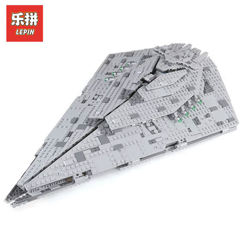 In Stock DHL Lepin Sets 05131 1585Pcs Star Wars Figures First Order Star Destroyer Model Building Kits Blocks Bricks Toys 75190 lepin sets star wars figures 3250pcs 05027 imperial star destroyer model building kits blocks bricks educational kid toys 10030