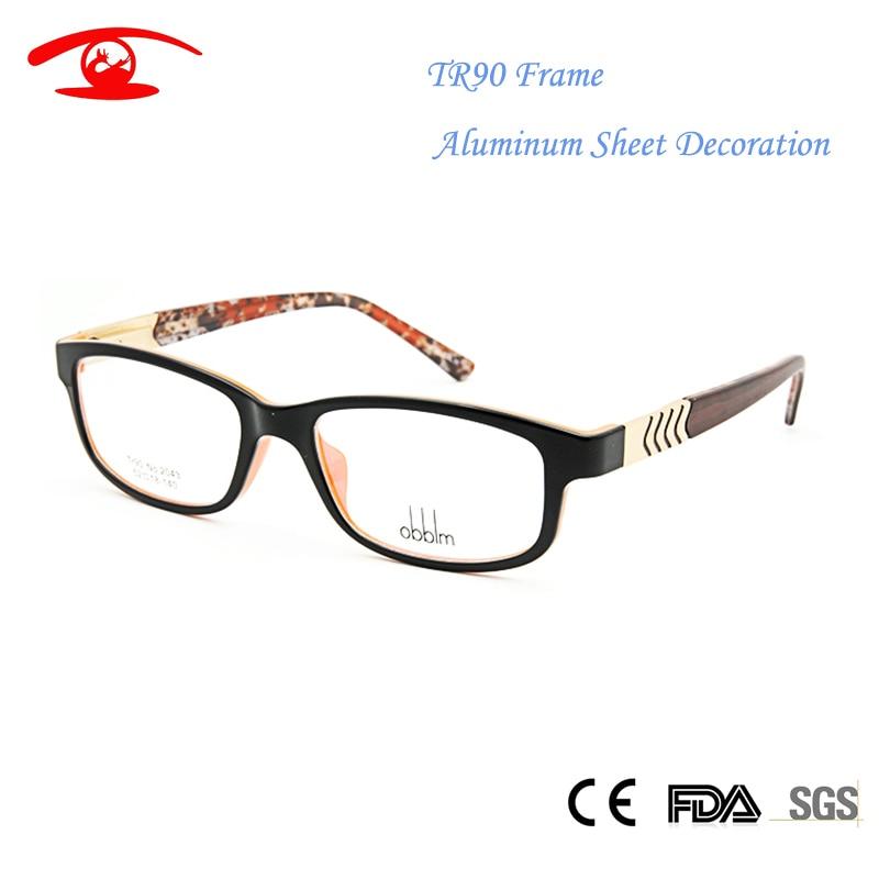 83d55b676 New TR90 Glasses Frame Nerd oculos grau female Women's Fashion Eyewear in  Clear Lens Aluminum Optical Eyeglass Colorful