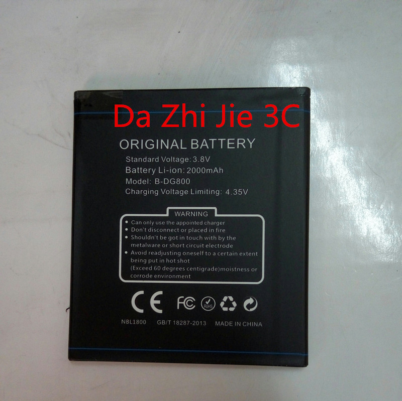 For Doogee DG800  2000Mah battery Smartphone Replacement accessory Free Shipping+Track Number
