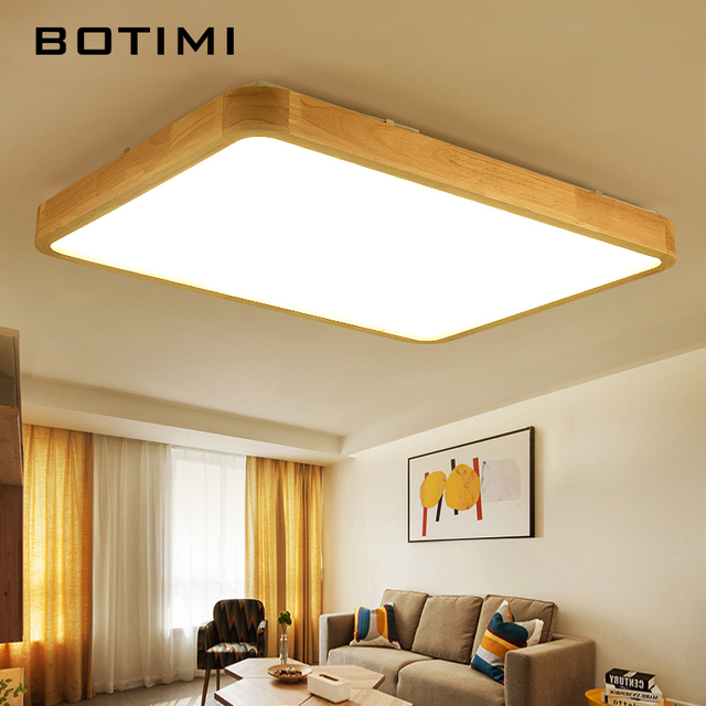 Botimi modern led ceiling lights wooden square ceiling lamp with botimi modern led ceiling lights wooden square ceiling lamp with remote for living room wood kitchen aloadofball Choice Image