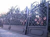 China Shanghai Wrought Iron Gates Driveway Gates Garden Iron Gates Metal Gates Home Improvement Forged Iron