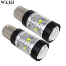 WLJH 2pcs 30W 800lm S25 1156 BA15S LED Bulb P21W XBD LED Chip Len For Car Backup Light Lamp Reverse Lamp Sourcing DC12-24V