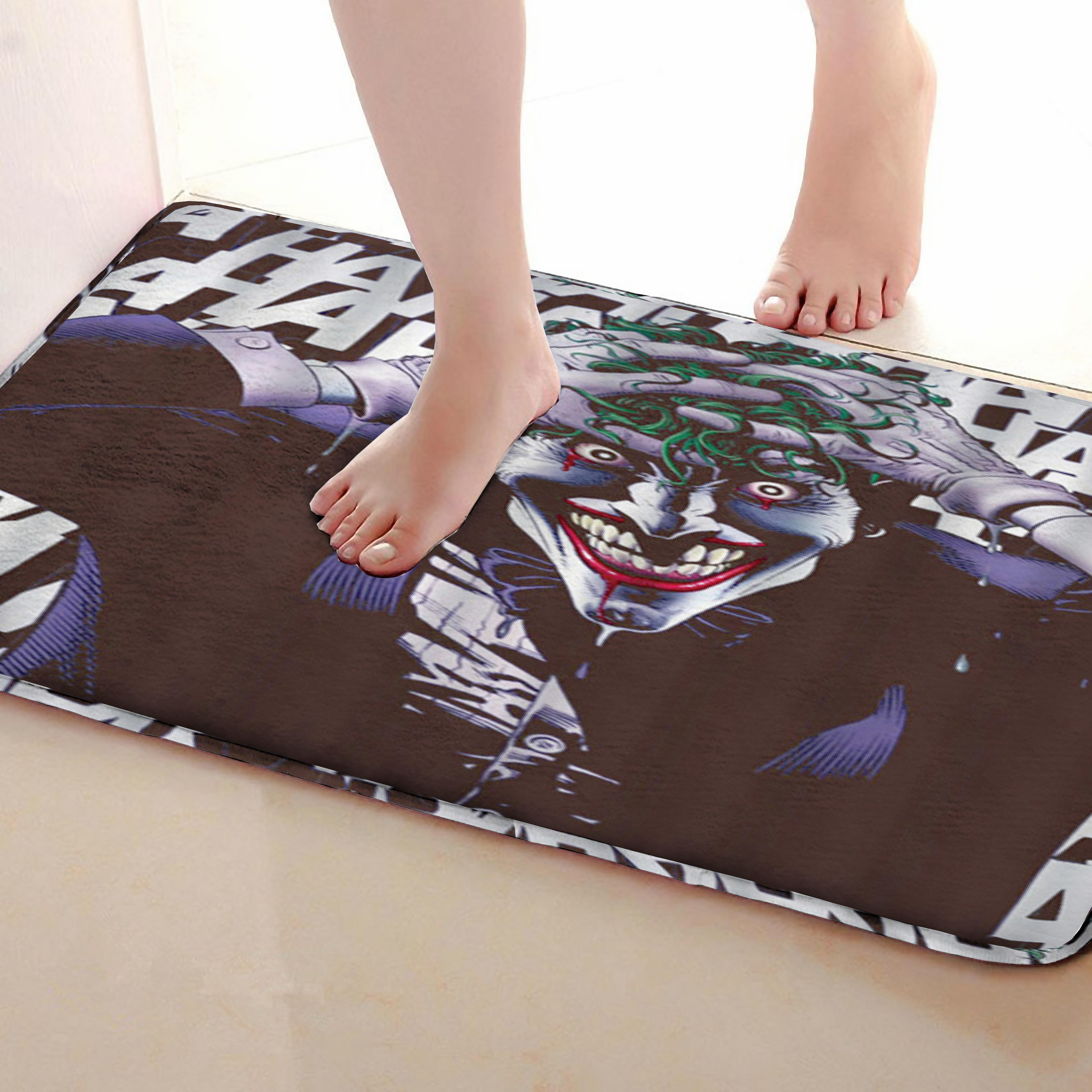 Monster Style Bathroom Mat,Funny Anti Skid Bath Mat,Shower Curtains Accessories,Matching Your Shower Curtain