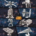 7 tipos estrela modelos guerra de metal 3D DIY quebra-cabeça de metal modelo de todo venda building model kits at at tie fighter X - lutador asa