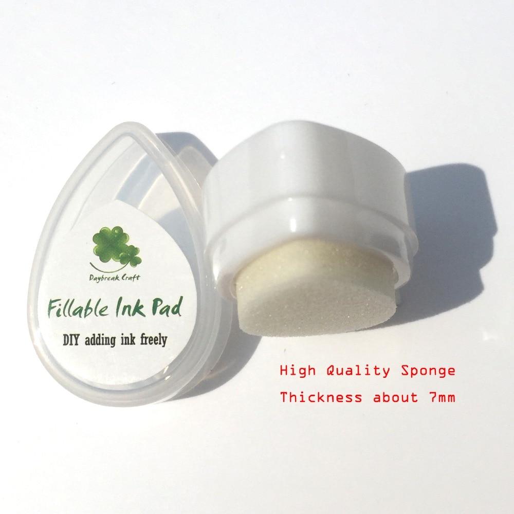 30 шт./лот/партия пластиковые белая губка пустые Чернила pad-scrapbook DIY пигментные чернила pad