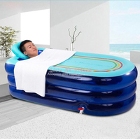 Portable Soaking Tub Extra Large Inflatable Bathtub Tub for Adults Home Bath Tub with Insulated Pillow and Electric Pump